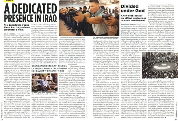 Article Preview: A DEDICATED PRESENCE IN IRAQ, MAY 29th 2006 2006 | Maclean's