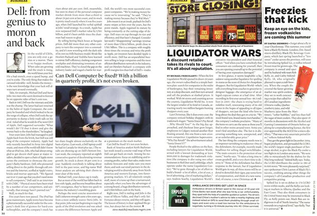 Article Preview: Dell: from genius to moron and back, MAY 29th 2006 2006 | Maclean's