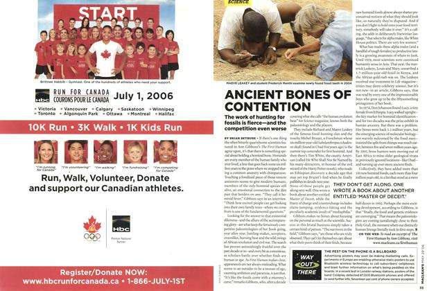 Article Preview: ANCIENT BONES OF CONTENTION, MAY 29th 2006 2006 | Maclean's