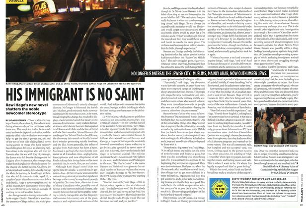 Article Preview: HIS IMMIGRANT IS NO SAINT, MAY 29th 2006 2006 | Maclean's