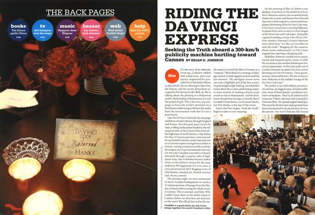 Article Preview: RIDING THE DA VINCI EXPRESS, MAY 29th 2006 2006 | Maclean's