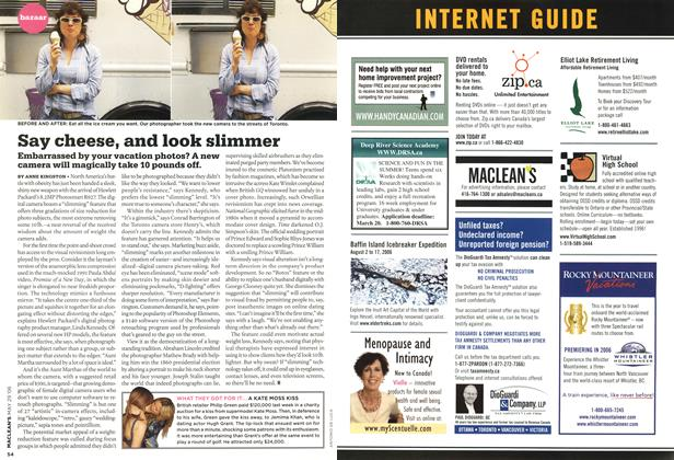 Article Preview: Say cheese, and look slimmer, MAY 29th 2006 2006 | Maclean's