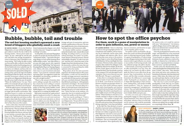 Article Preview: How to spot the office psychos, MAY 29th 2006 2006 | Maclean's