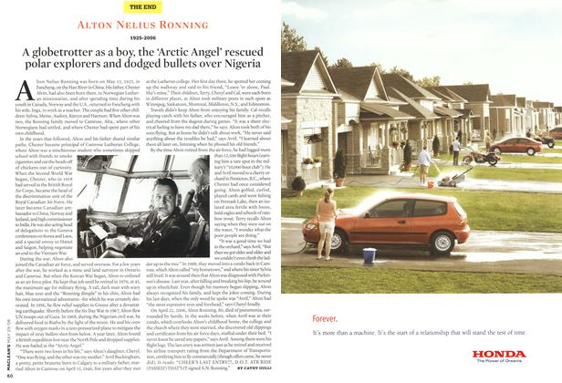 Article Preview: ALTON NELIUS RONNING 1925-2006, MAY 29th 2006 2006 | Maclean's