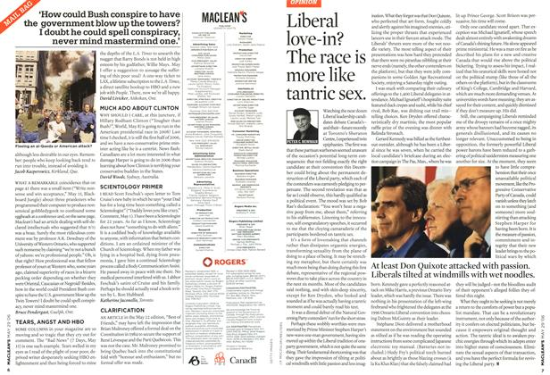 Article Preview: Liberal love-in? The race is more like tantric sex., MAY 29th 2006 2006 | Maclean's