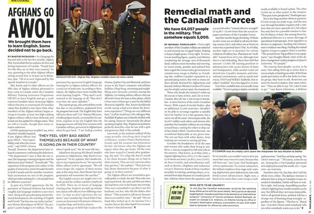 Article Preview: Remedial math and the Canadian Forces, JUN. 5th 2006 2006 | Maclean's
