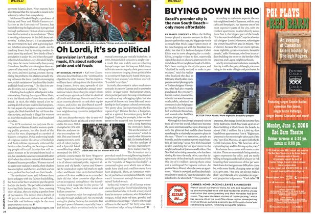 Article Preview: Oh Lordi, it's so political, JUN. 5th 2006 2006 | Maclean's
