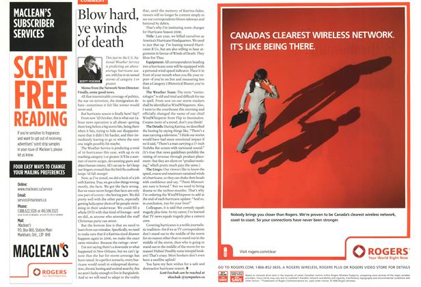 Article Preview: Blow hard, ye winds of death, JUN. 5th 2006 2006 | Maclean's