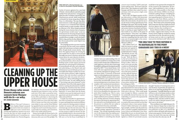 Article Preview: CLEANING UP THE UPPER HOUSE, JUN. 12th 2006 2006 | Maclean's