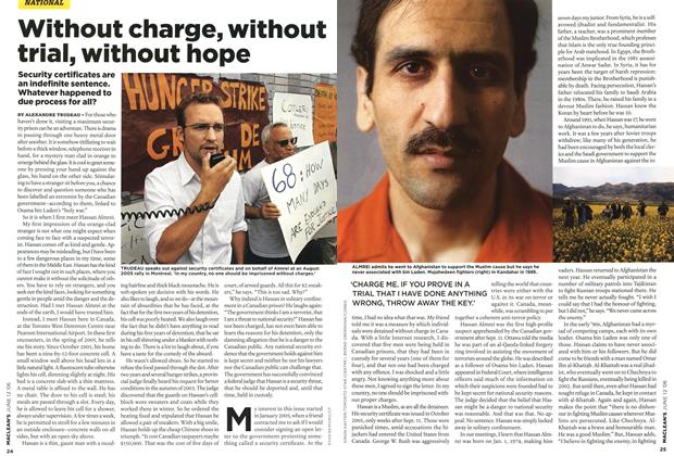 Article Preview: Without charge, without trial, without hope, JUN. 12th 2006 2006 | Maclean's