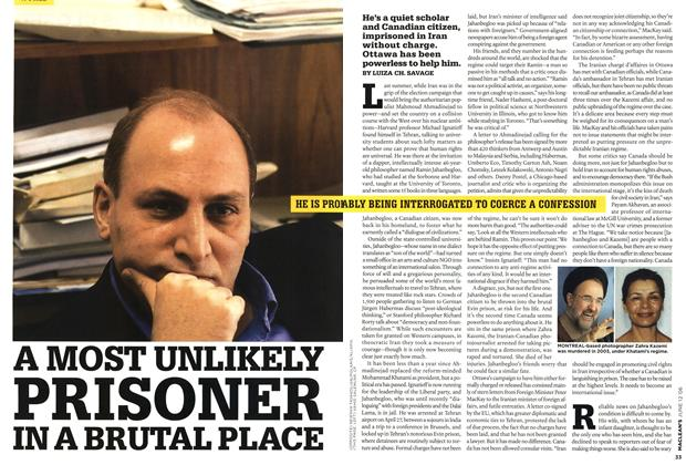 Article Preview: A MOST UNLIKELY PRISONER IN A BRUTAL PLACE, JUN. 12th 2006 2006 | Maclean's