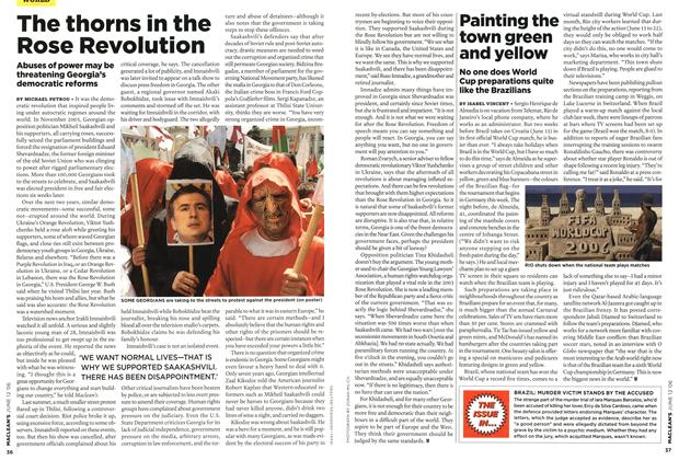 Article Preview: The thorns in the Rose Revolution, JUN. 12th 2006 2006 | Maclean's