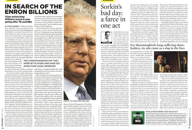 Article Preview: Sorkin's bad day: a farce in one act, JUN. 12th 2006 2006 | Maclean's