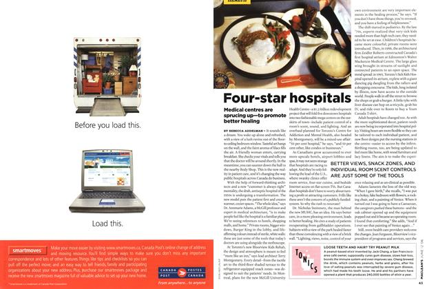 Article Preview: Four-star hospitals, JUN. 12th 2006 2006 | Maclean's