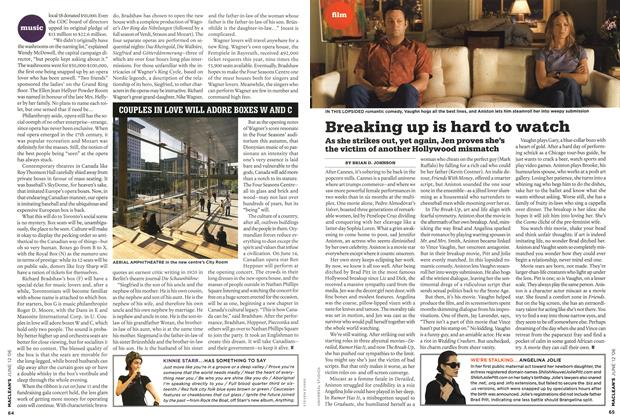 Article Preview: Breaking up is hard to watch, JUN. 12th 2006 2006 | Maclean's