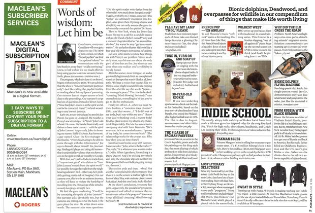 Article Preview: Words of wisdom: Let him be, JUN. 12th 2006 2006 | Maclean's
