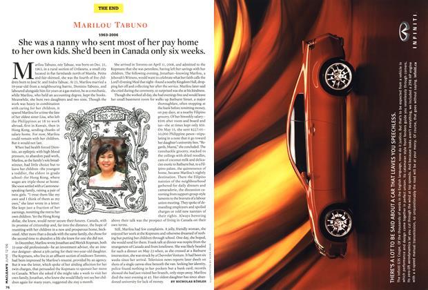 Article Preview: MARILOU TABUNO 1963-2006, JUN. 12th 2006 2006 | Maclean's