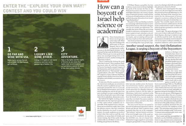 Article Preview: How can a boycott of Israel help science or academia?, JUN. 12th 2006 2006 | Maclean's