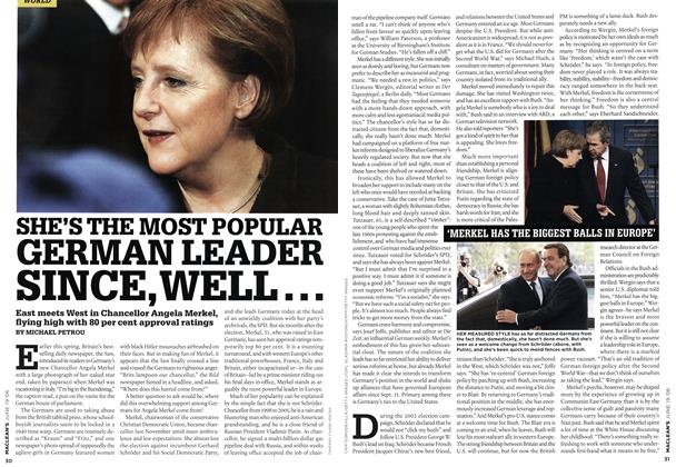 Article Preview: SHE'S THE MOST POPULAR GERMAN LEADER SINCE, WELL..., JUN. 19th 2006 2006 | Maclean's
