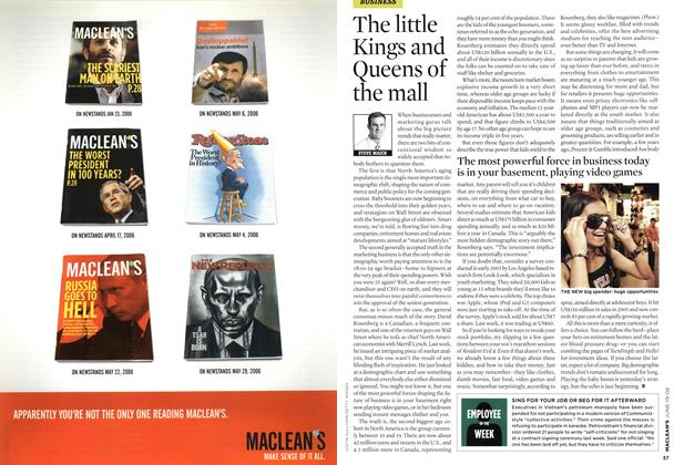 Article Preview: The little Kings and Queens of the mall, JUN. 19th 2006 2006 | Maclean's