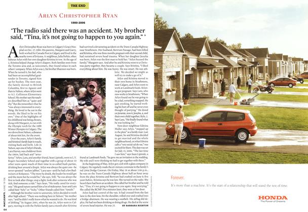 Article Preview: ARLYN CHRISTOPHER RYAN 1980-2006, JUN. 19th 2006 2006 | Maclean's