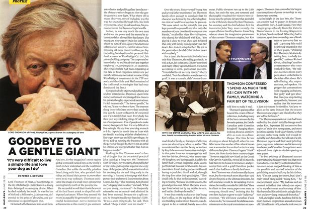 Article Preview: GOODBYE TO A GENTLE GIANT, JUN. 26th 2006 2006 | Maclean's