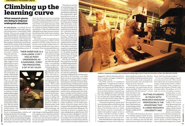 Article Preview: Climbing up the learning curve, JUN. 26th 2006 2006 | Maclean's