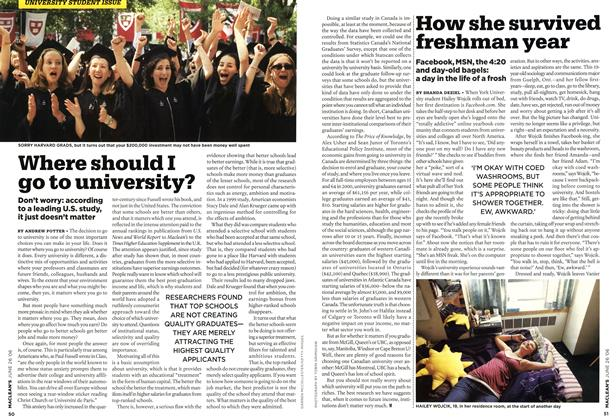 Article Preview: How she survived freshman year, JUN. 26th 2006 2006 | Maclean's