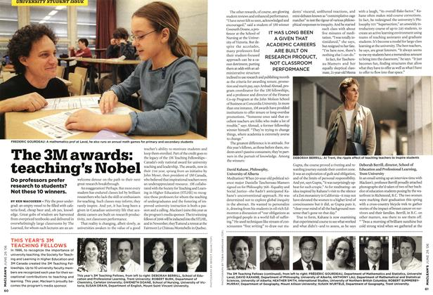 Article Preview: The 3M awards: teaching's Nobel, JUN. 26th 2006 2006 | Maclean's
