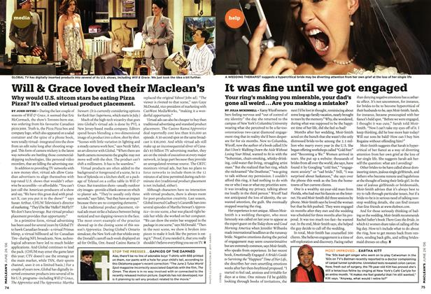 Article Preview: Will & Grace loved their Maclean's, JUN. 26th 2006 2006 | Maclean's