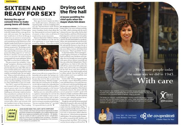 Article Preview: SIXTEEN AND READY FOR SEX?, JUL. 1st 2006 2006   Maclean's