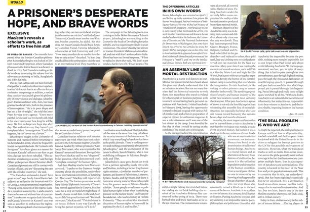 Article Preview: A PRISONER'S DESPERATE HOPE, AND BRAVE WORDS, JUL. 1st 2006 2006 | Maclean's