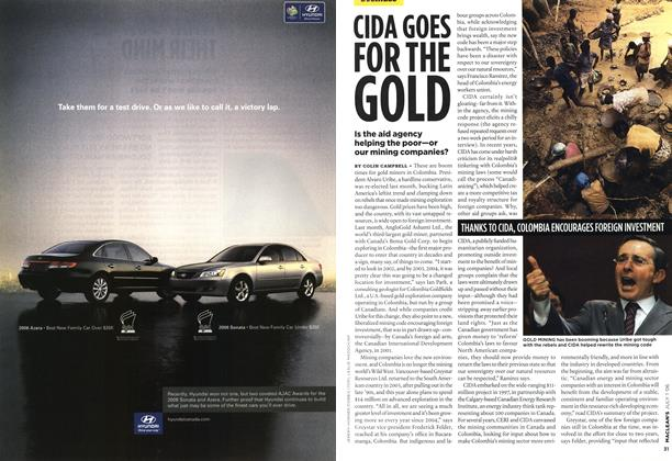 Article Preview: CIDA GOES FOR THE GOLD, JUL. 1st 2006 2006 | Maclean's