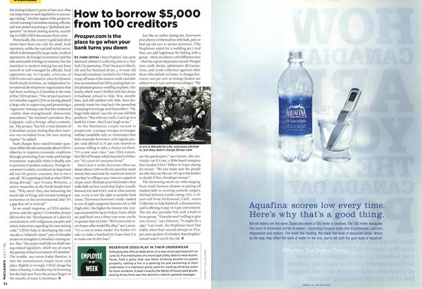 Article Preview: How to borrow $5,000 from 100 creditors, JUL. 1st 2006 2006 | Maclean's