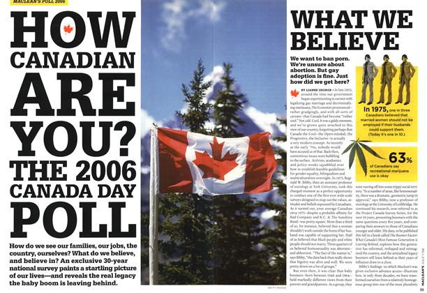 Article Preview: WHAT WE BELIEVE, JUL. 1st 2006 2006 | Maclean's