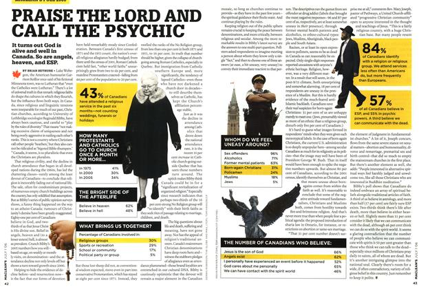 Article Preview: PRAISE THE LORD AND CALL THE PSYCHIC, JUL. 1st 2006 2006 | Maclean's