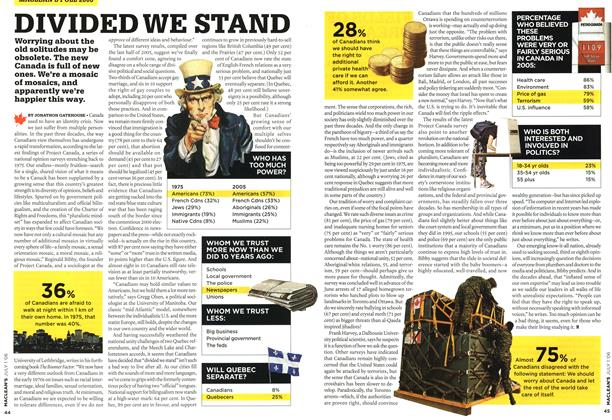 Article Preview: DIVIDED WE STAND, JUL. 1st 2006 2006 | Maclean's