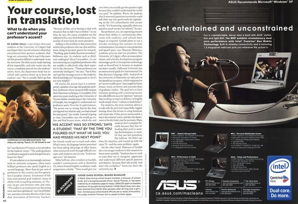 Article Preview: Your course, lost in translation, JUL. 1st 2006 2006 | Maclean's