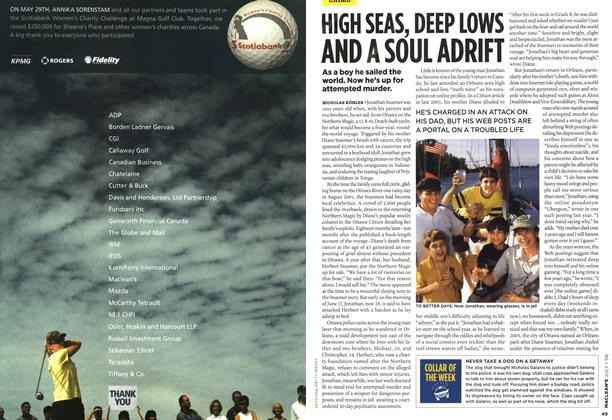 Article Preview: HIGH SEAS, DEEP LOWS AND A SOUL ADRIFT, JUL. 1st 2006 2006 | Maclean's