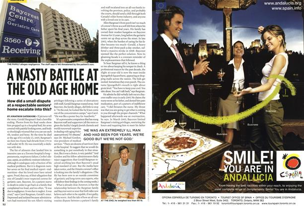 Article Preview: A NASTY BATTLE AT THE OLD AGE HONE, JUL. 1st 2006 2006 | Maclean's