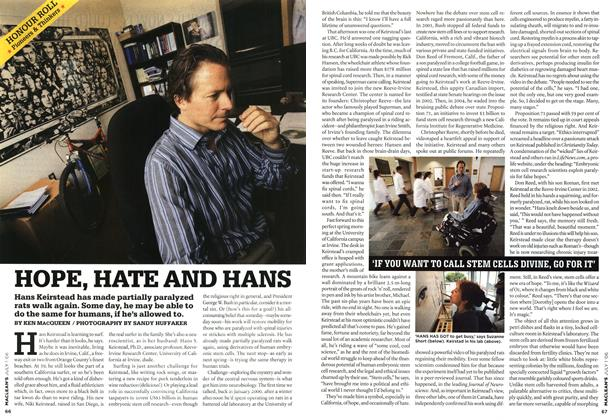 Article Preview: HOPE, HATE AND HANS, JUL. 1st 2006 2006 | Maclean's