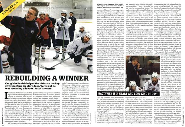 Article Preview: REBUILDING A WINNER, JUL. 1st 2006 2006 | Maclean's