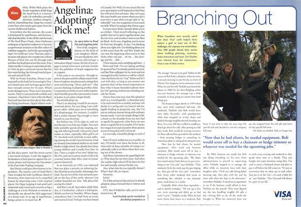 Article Preview: Angelina: Adopting? Pick me!, JUL. 1st 2006 2006 | Maclean's