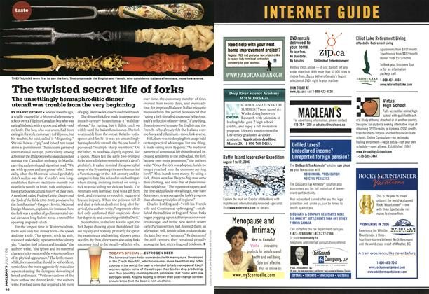 Article Preview: The twisted secret life of forks, JUL. 1st 2006 2006 | Maclean's