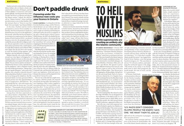 Article Preview: Don't paddle drunk, JUL 24th 2006 2006 | Maclean's