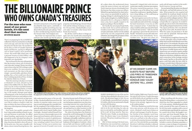 Article Preview: THE BILLIONAIRE PRINCE WHO OWNS CANADA'S TREASURES, JUL 24th 2006 2006 | Maclean's