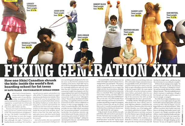 Article Preview: FIXING GENERATION XXL, JUL 24th 2006 2006 | Maclean's