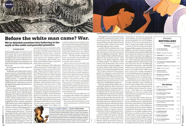 Article Preview: Before the white man came? War., JUL 24th 2006 2006 | Maclean's