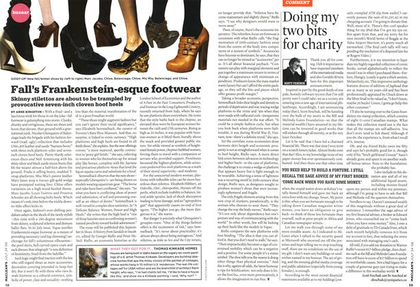 Article Preview: Fall's Frankenstein-esque footwear, JUL 24th 2006 2006 | Maclean's