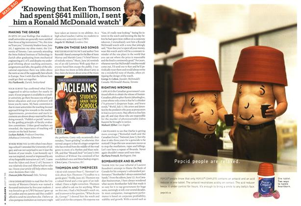 Article Preview: 'Knowing that Ken Thomson had spent $641 million, I sent him a Ronald McDonald watch', JUL 24th 2006 2006 | Maclean's
